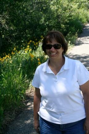 Mariann loves the daises.